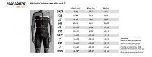 Size chart Bioracer men